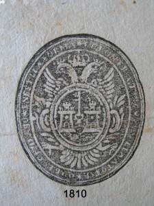 1810 primer sello ayto pasaporte con pie foto