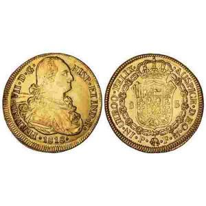 fernando-vii-8-escudos-oro-1818-popayan-fm