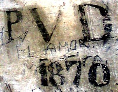 LA MISTERIOSA INSCRIPCIÓN DE LA ERMITA DEL ESPÍRITU SANTO DE VERA. PVD AD 1870