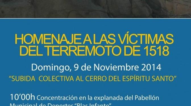 HOMENAJE A LAS VÍCTIMAS DEL TERREMOTO DE 1518