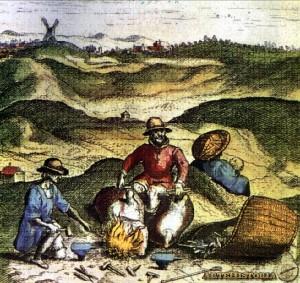 Herreros ambulantes gitanos. Civitates Orbis Terrarum, 1564 (siglo XVI)