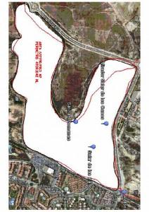 Área del perímetro del la zona húmeda del Salar para su cerramiento y vallado