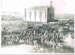 antiguo funeral de cofrade en ermita