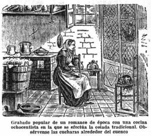 cocina ochocentista mujer
