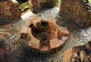 Fuente de la basílica romana de Stobi, Macedonia