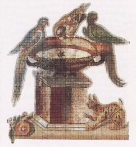 Fuente romana de un mosaico