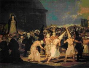 La mayoría de las Cofradías fundadas tras el Concilio, incluyeron la penitencia de sangre o flagelantes