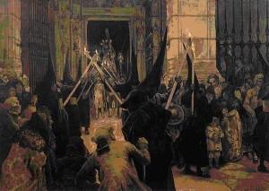 Manifestación procesional en el siglo XVIII