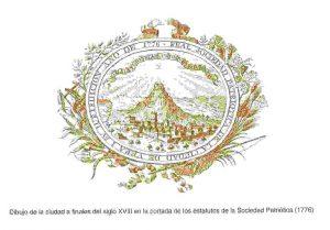 Dibujo de la ciudad finales siglo XVIII Sociedad Amigos del Pais