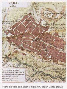 El paisaje cartográfico urbano de Vera en 1855