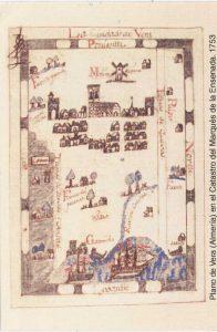 Representación conceptual del paisaje cartográfico urbano de Vera en 1753