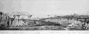 paisaje-dibujado-por-luis-siret-del-antiguo-curso-del-rio-antas-con-el-argar-al-fondo