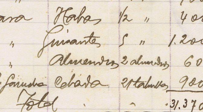 HELADAS Y ALIMENTOS DURANTE LA GUERRA CIVIL. VERA. 1938