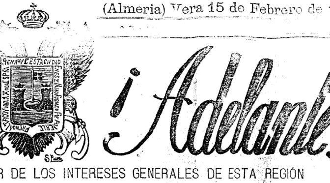¡ADELANTE! PRENSA DE VERA. 1906