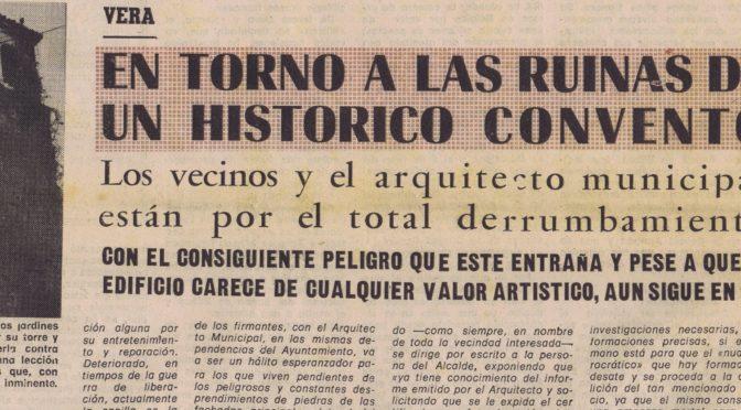 PRENSA HISTÓRICA. EL CONVENTO DE PADRES MÍNIMOS